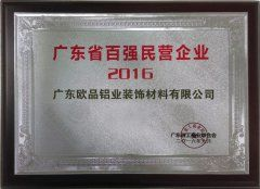 2016广东省百强民营企业